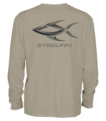 Steelfin Logo Performance Shirt - Sand