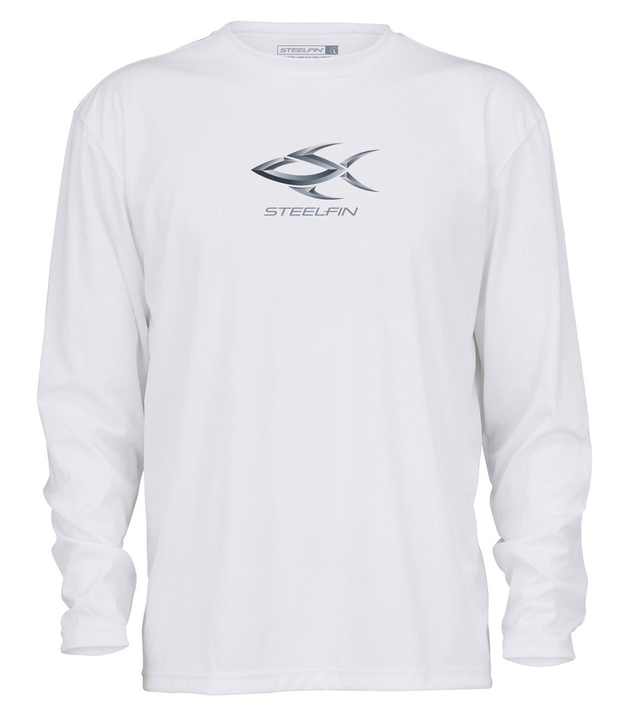 Steelfin Logo Performance Shirt – White