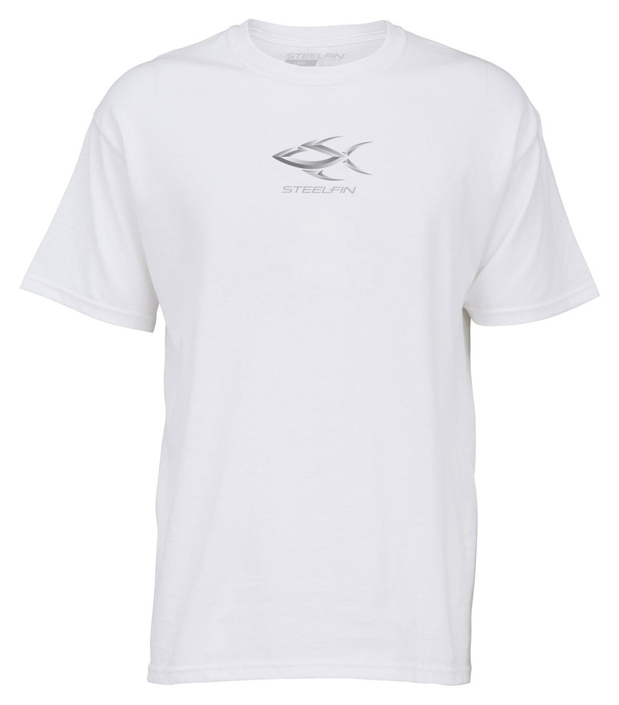 Steelfin Short Sleeve Logo Tee – White