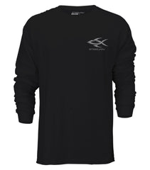 Steelfin Long Sleeve Striper Tee - Black