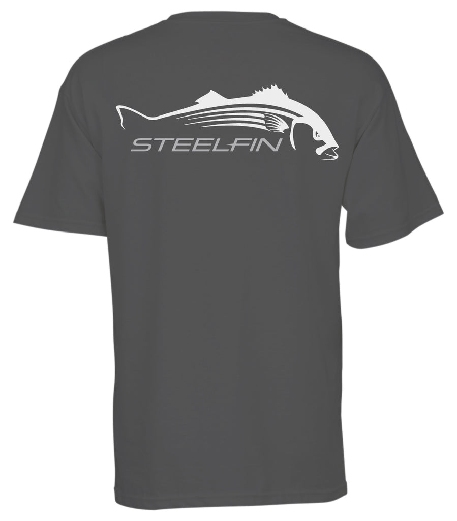 Steelfin Short Sleeve Striper Tee – Slate Grey