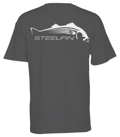 Steelfin Short Sleeve Striper Tee - Slate