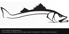 Steelfin Snook Decal - Black