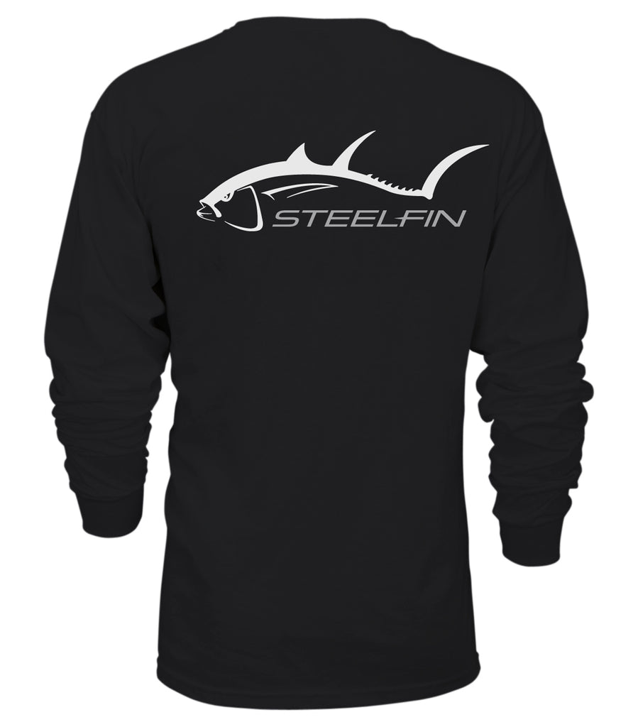 Steelfin Long Sleeve Tuna Tee – Black