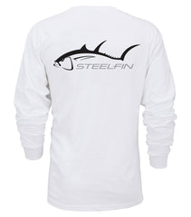 Steelfin Long Sleeve Tuna Tee - White