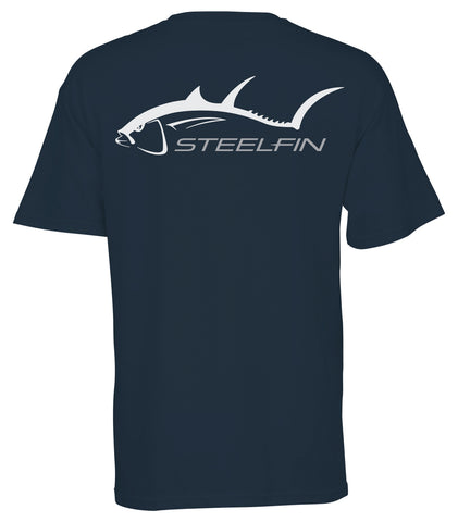 Steelfin Short Sleeve Tuna Tee - Dusk