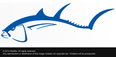 Steelfin Tuna Decal - Blue