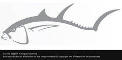 Steelfin Tuna Decal - Silver