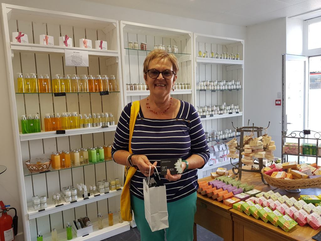 Teignmouth customer very, very happy to win our competition