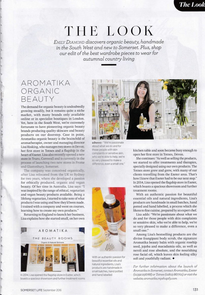 Aromatika Featured in Somerset Life