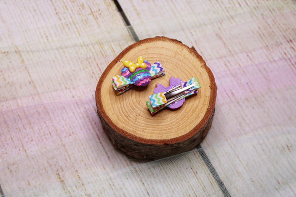 Colourful Mouse Chevron Alligator Clips