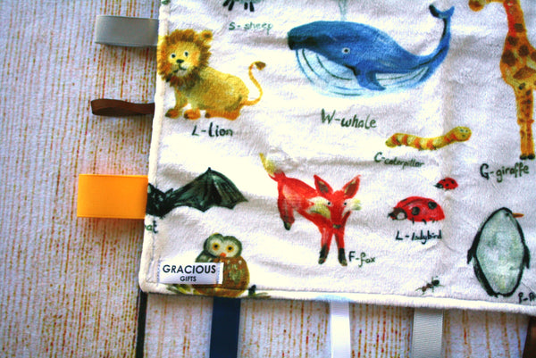 Animal Taggy Blanket