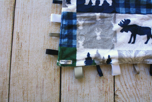 Cabin Blue Taggy Blanket