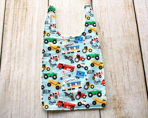 Cars Blue Long Bib
