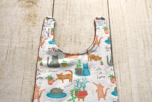 Cats at Home Long Bib