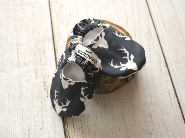 Deer Navy Booties