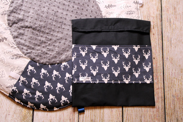 Deer Navy Travel Playmat