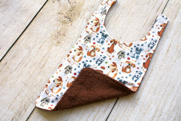 Dog White Long Bib