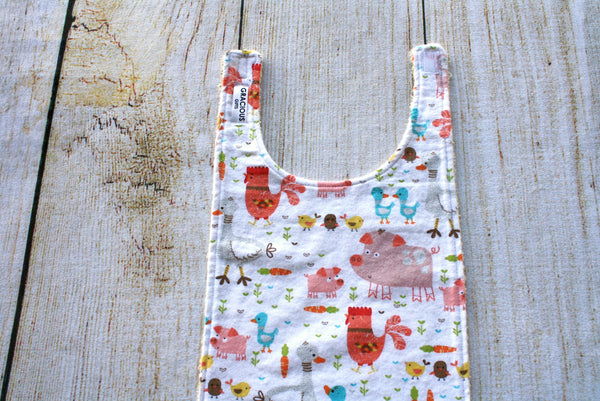 Farm Animal Long Bib