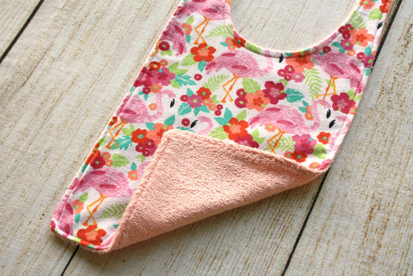 Flamingo Pink Long Bib