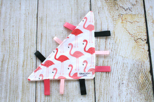 Pink Flamingo Triangle Crinkle