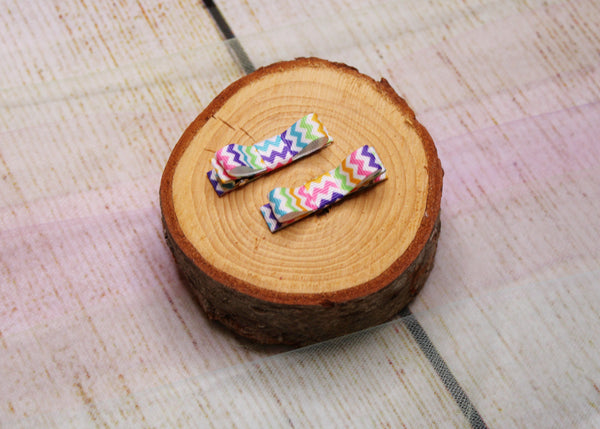 Colourful Chevron Clips