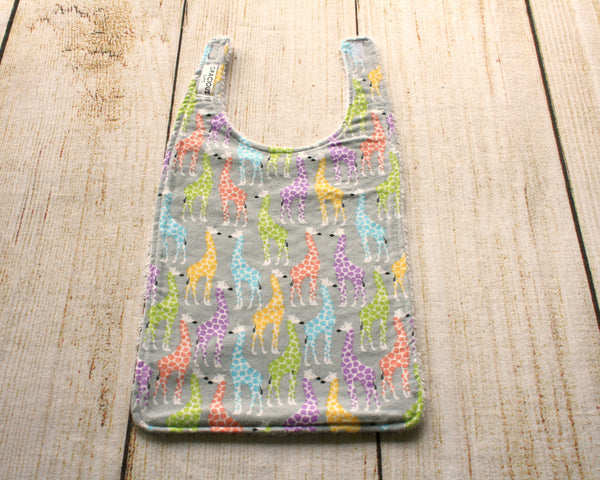 Giraffe Colourful Long Bib