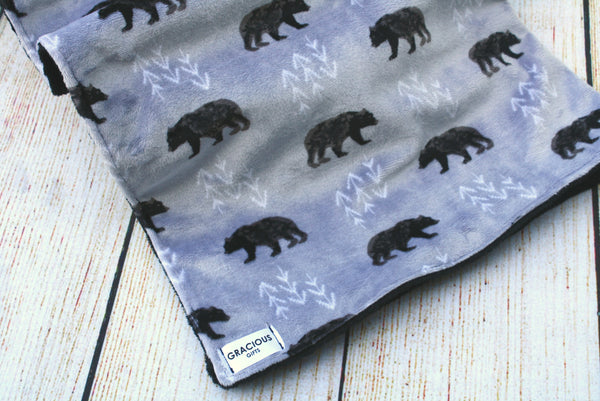 Bear Grey Blanket