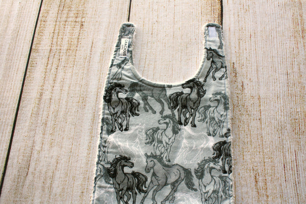 Horse Grey Long Bib