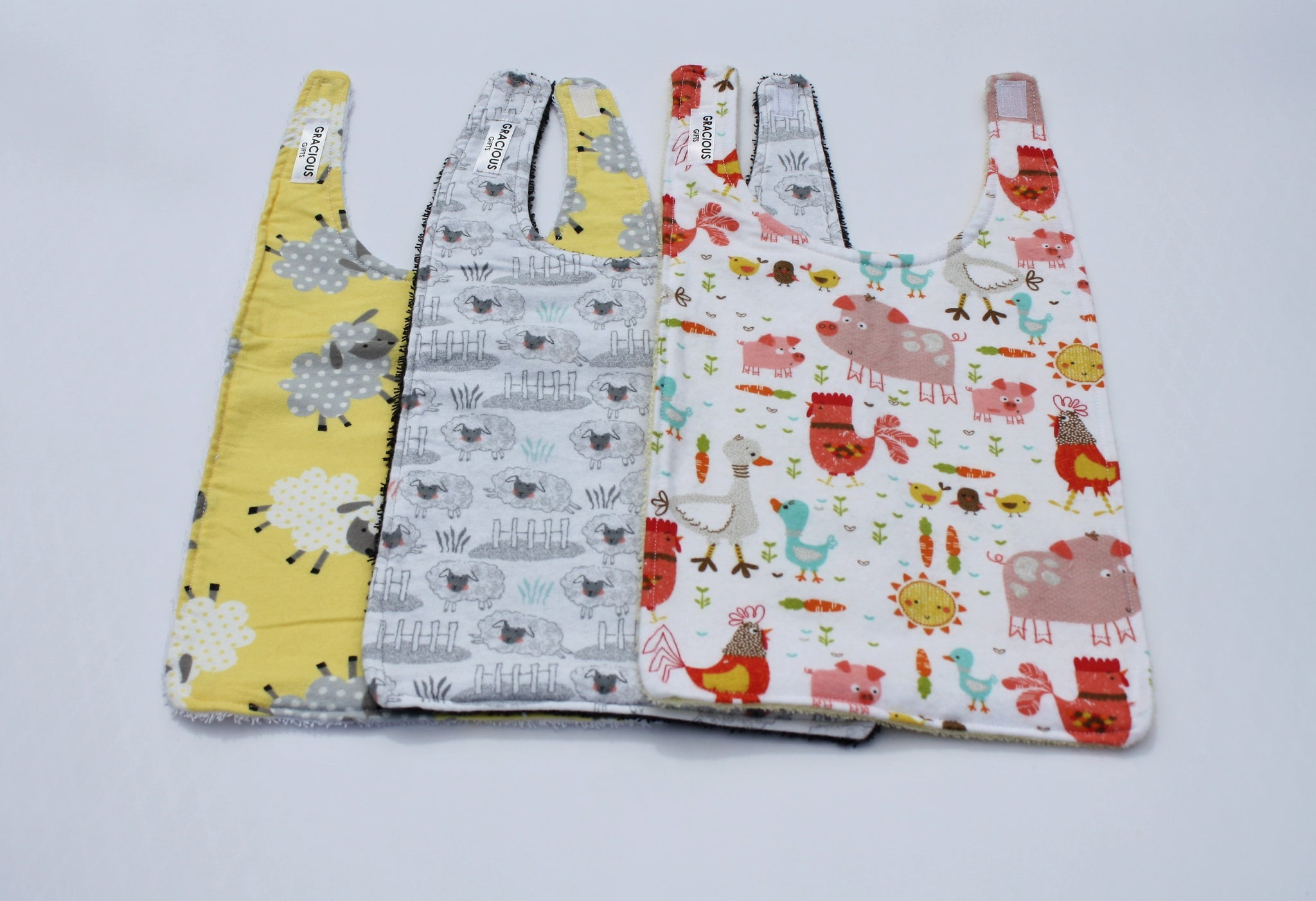Long Bib Set - Farm Animals