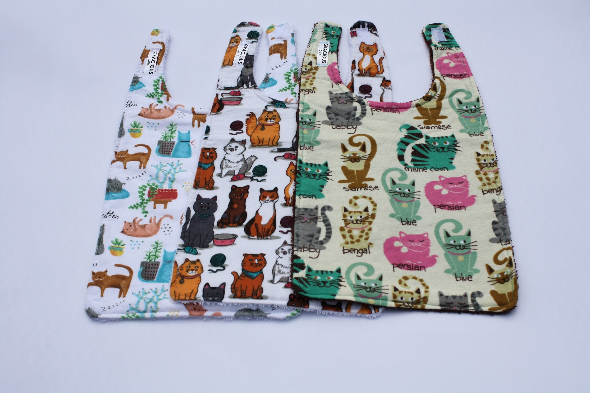 Long Bib Set - Cats