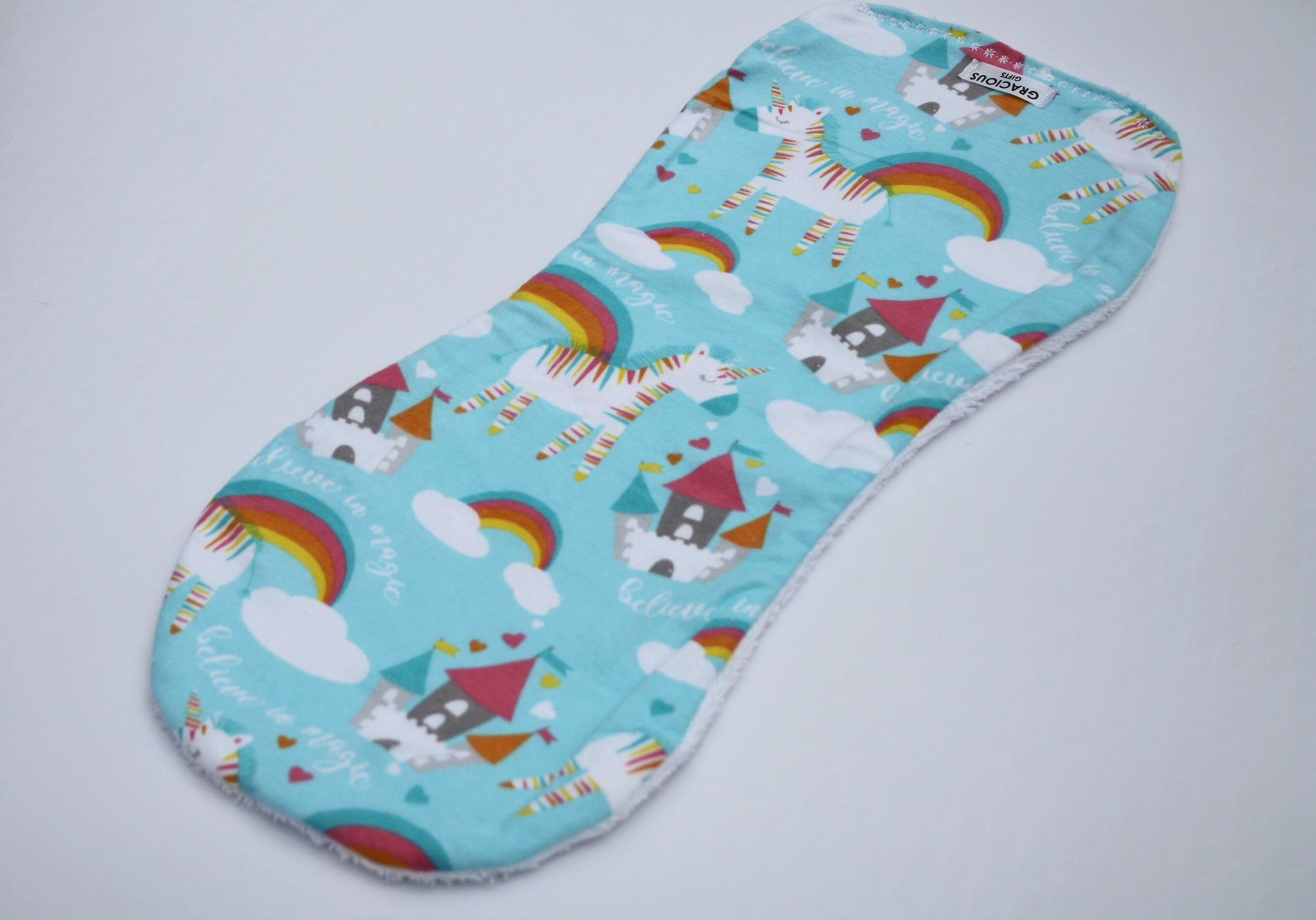 Burp Cloth - Blue Unicorn