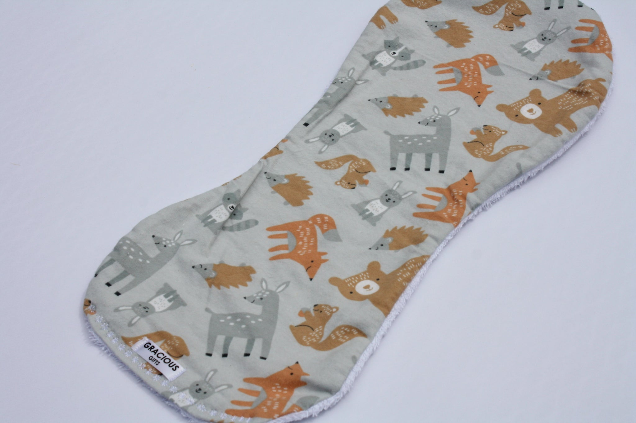 Burp Cloth - Woodland Grey