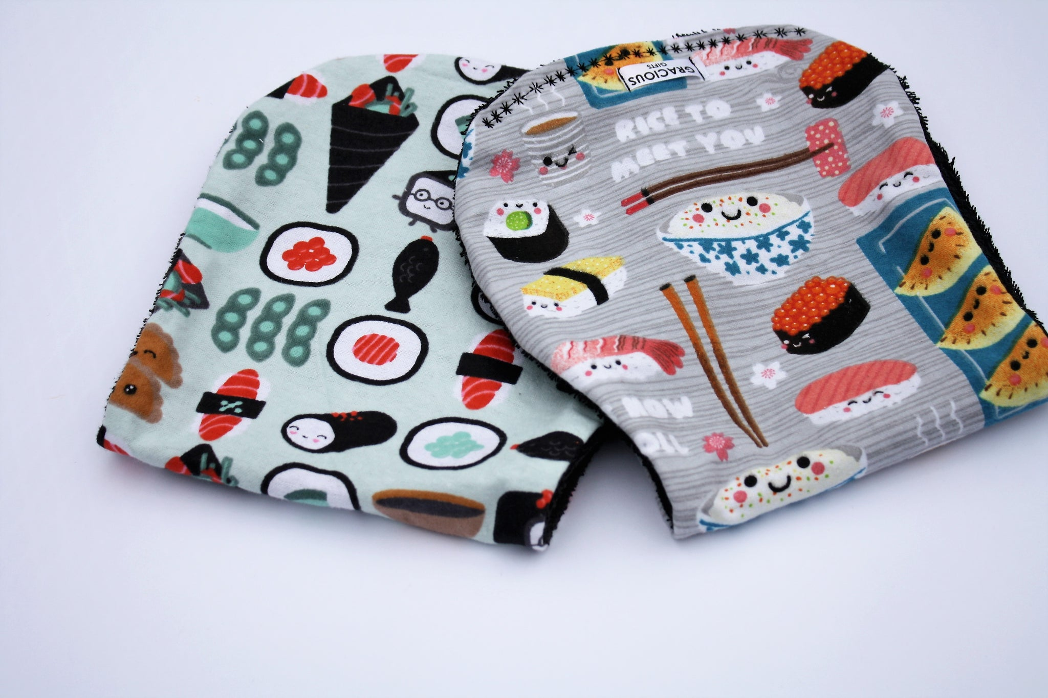 Burp Cloth Set - Sushi/Grey Sushi