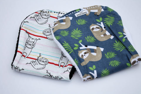 Burp Cloth Set - Sloth Theme