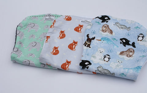 Burp Cloth Set - Elephant/Fox/Artic