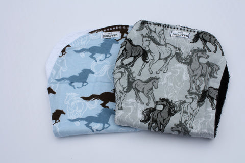 Burp Cloth Set - Horse Theme