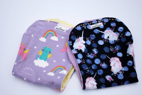 Burp Cloth Set - Unicat/Navy Unicorn