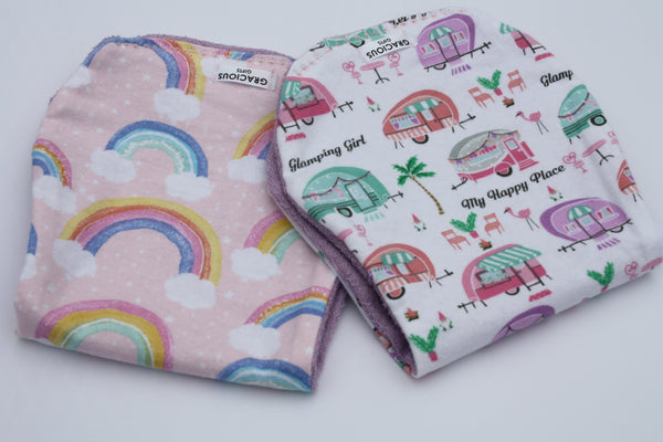 Burp Cloth Set - Rainbow/Glamping