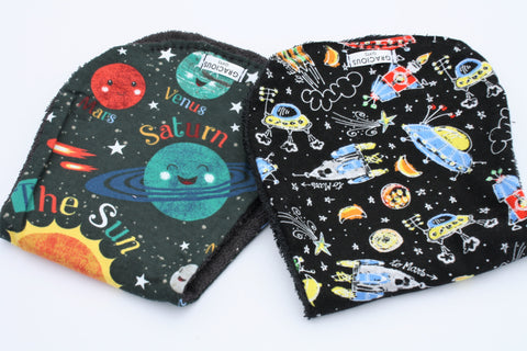 Burp Cloth Set - Planets/Space