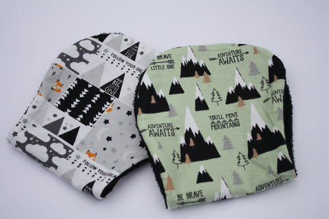 Burp Cloth Set - Fox Stars/Mountains