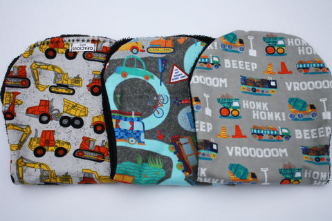Burp Cloth Set - Construction/Transit/HONK!