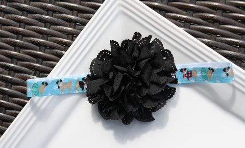 Headband - Dog w/ Black Eyelet