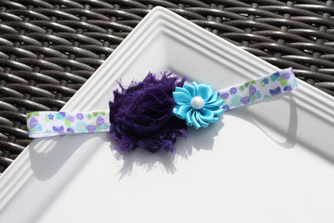 Headband - Blue/Purple Butterfly