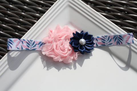 Headband - Leaves Pink/Blue