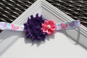 Headband - Pink/Purple Butterfly