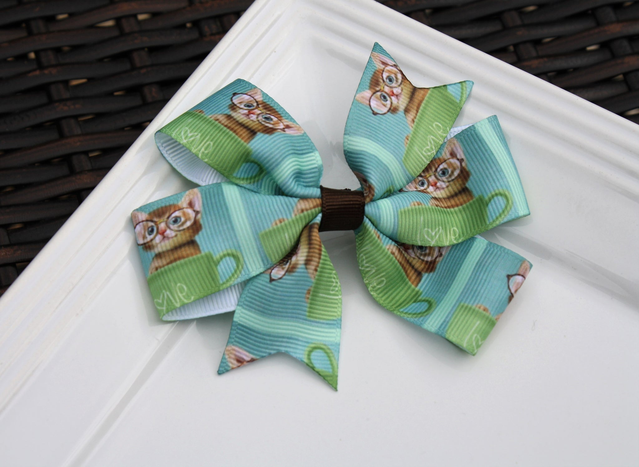 Pinwheel clip - Cat w/ Glasses