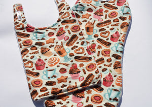 Bib and Burp Cloth - Cupcake
