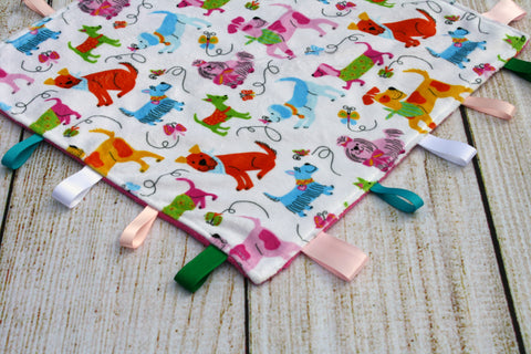 Girl Dog Taggy Blanket