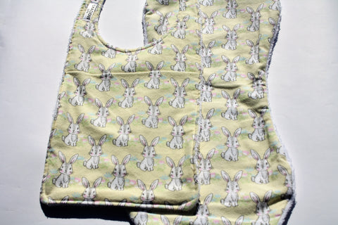 Bib and Burp Cloth - Rabbit